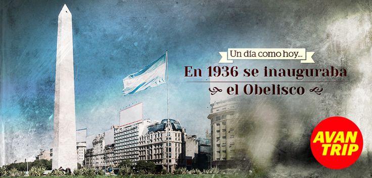 23 DE MAYO - ¿Sabían que un día como hoy en 1936 se inauguraba el Obelisco? Desde hace 77 años es uno de los símbolos de Buenos Aires... #Obelisco #BuenosAires #BsAs #Argentina #Arg #Efemerides #23deMayo