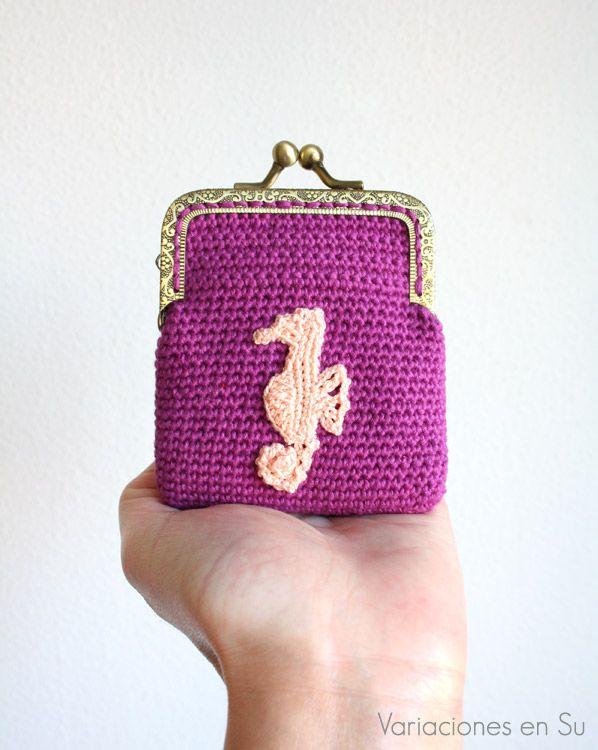 Monedero de ganchillo // Crochet purse