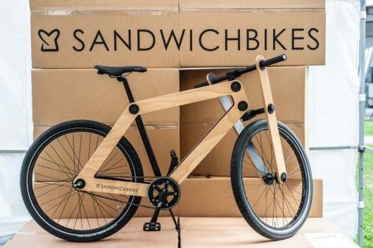 Sandwichbikes Flat Pack Wooden Bicycles