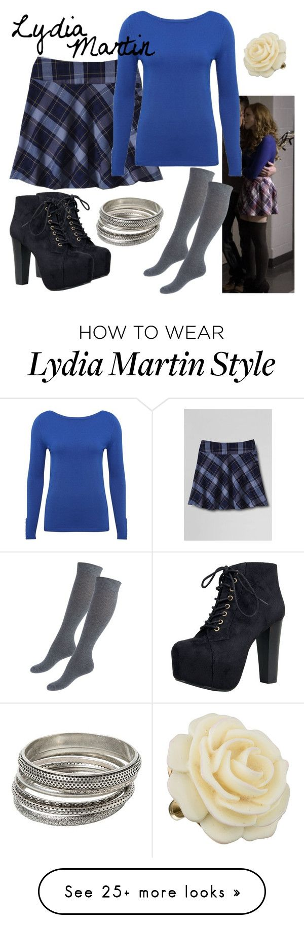 """""""Lydia Martin: Wolf Moon"""" by fandom-wardrobes on Polyvore featuring Lands' End, Speed Limit 98, M&Co, MANGO, Kenneth Jay Lane and TeenWolf"""
