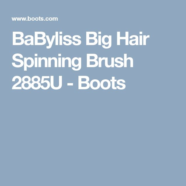 boots babyliss big hair