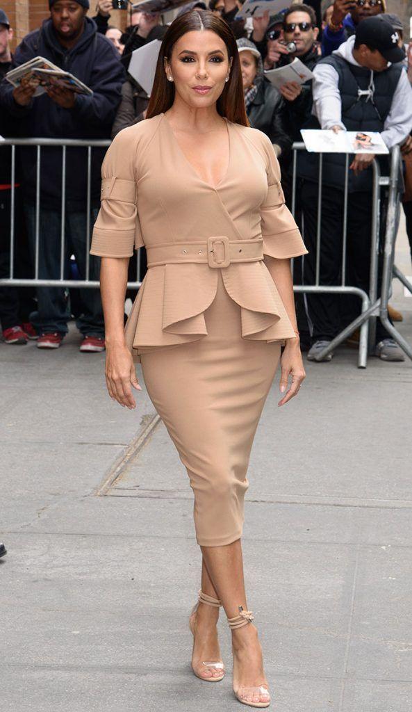 Eva Longoria Leaves ABC Studios in Zeena Zaki Look and