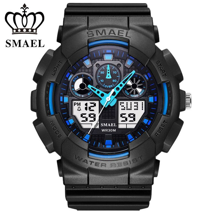 SMAEL s-shock dial chronograph watches men's LED military watch Casual outdoor sports men kids dual display watch reloj hombre //Price: $US $11.30 & FREE Shipping //     #hashtag2