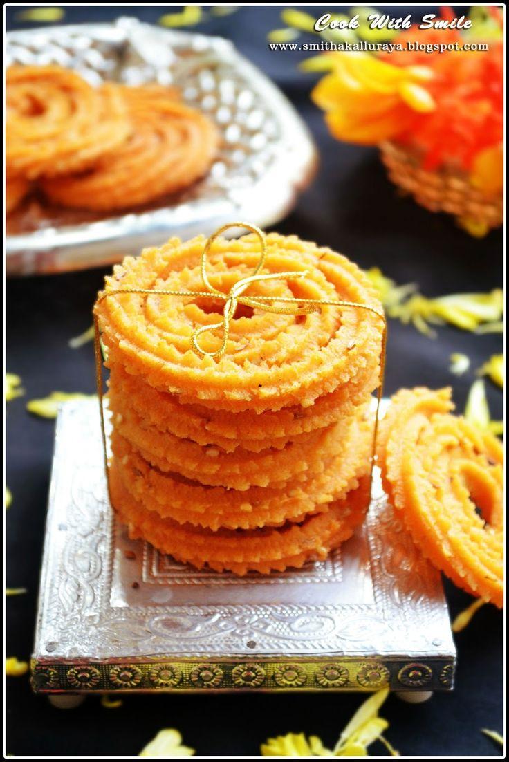 EASY RAVA CHAKKULI / MURUKKU / CHAKLI RECIPE   Cook With Smile