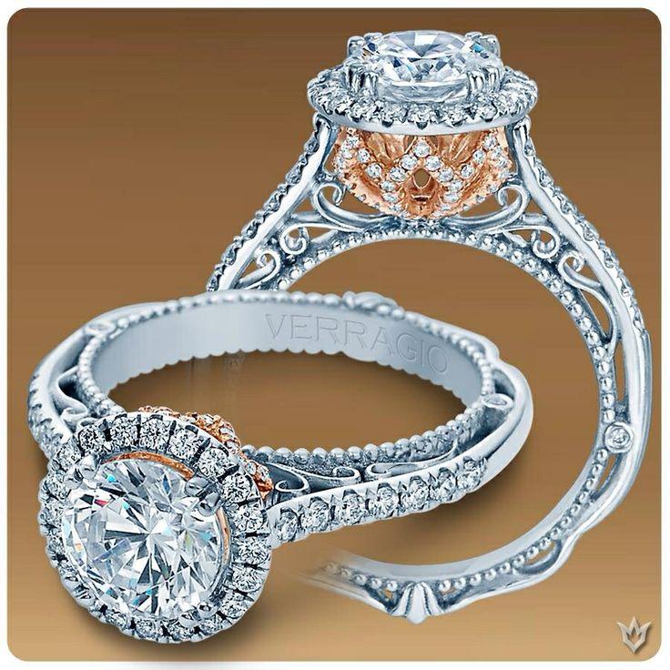 Wedding Ring Bands >> Verragio VENETIAN-5061R-TT | Wedding: One Day | Pinterest | Dream wedding, Engagement and Wedding