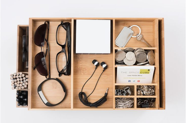 The Space Cube Timber/Wood Desk Caddy + Docking Station http://www.thespacecube.com/
