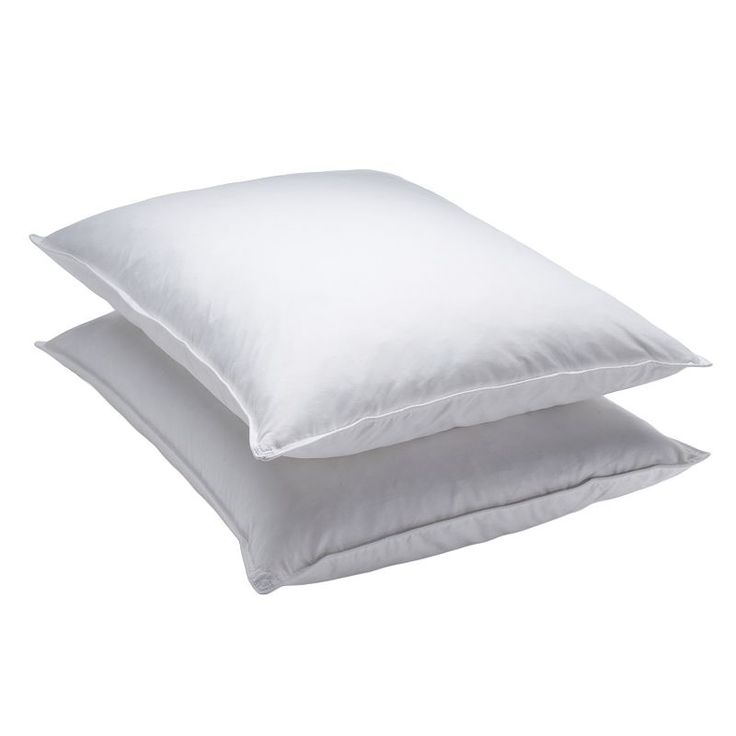 Dream On 2-pack Goose Feather Pillows, White