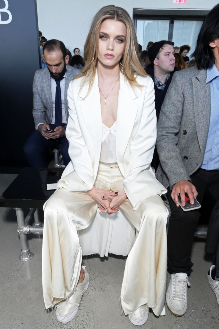 Abbey Lee Kershaw front row at Calvin Klein RTW Fall 2016 [Photo: Swan Gallet/WWD]