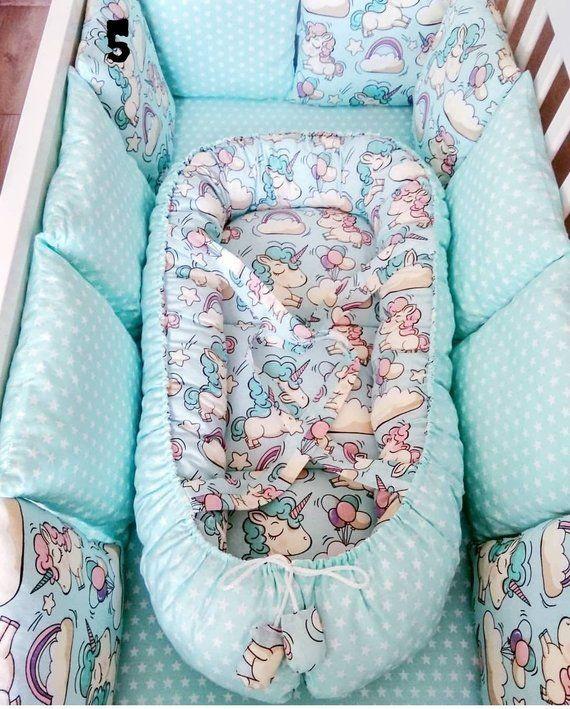 Baby Crib Bumper Unicorn New Born Gift Baby Crib Bedding Set Etsy Baby Crib Bumpers Unicorn Toddler Bedding Newborn Blankets