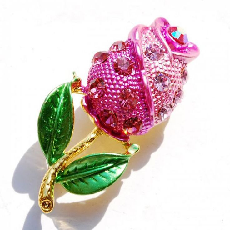 Black Flower Brooches gold plated brooches cute wedding decoration Clothes crystal pins women jewelry