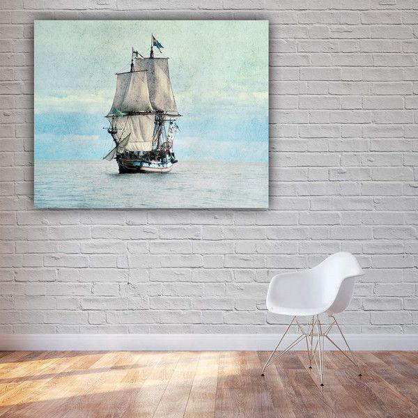 """Farbe - Leinwand """" Setz die Segel neu """" 80 x 60 cm - ein Designerstück von Heavensblue-Fotografie bei DaWanda"""