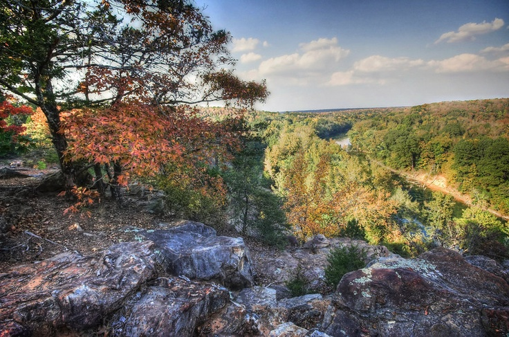 Favorite view from B Rock at Camp Wyldewood in Searcy, Arkansas