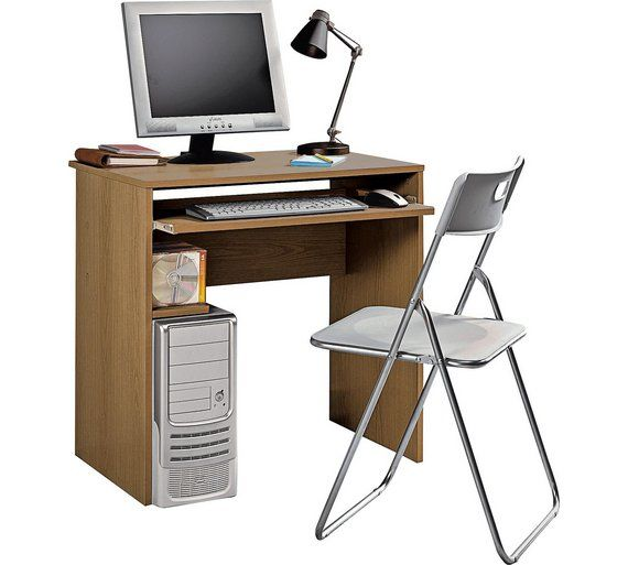 Buy HOME Office Desk And Chair Set   Oak Effect At Argos.co.uk