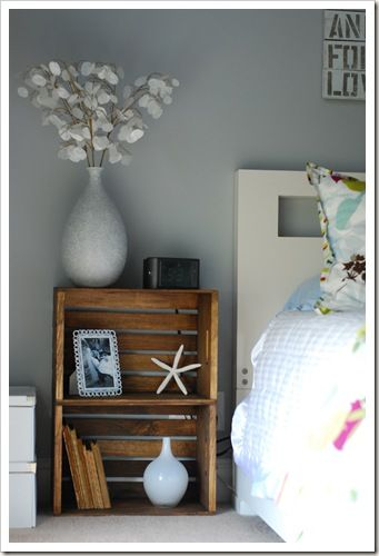 side table made of crates nightstand ideascrate