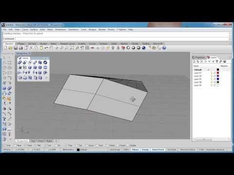 Advanced Rhino 5 Tutorial | Move, Split, and Merge Faces - YouTube