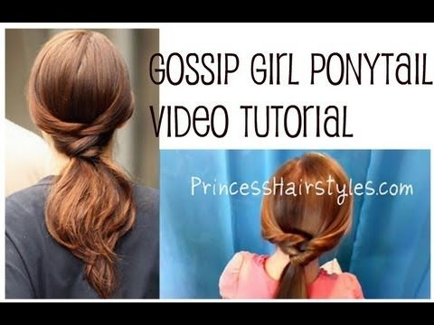 Gossip Girl Hairstyles, Twisty Ponytail #2. Honestly, I don't watch Gossip Girl, but to those who do or don't this ponytail is still a great twist to a regular ponytail. Enjoy!