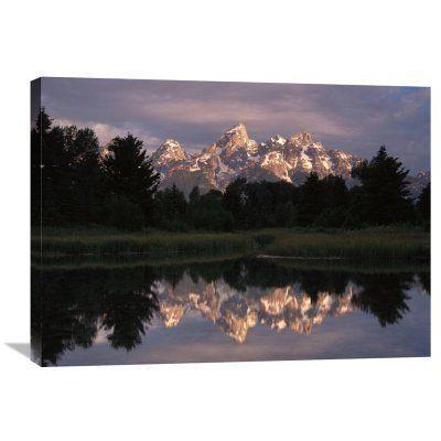 Global Gallery Grand Teton Range and Schwabacher Landing Wall Art - GCS-397196-1824-142