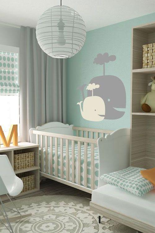 Kinderkamer Behang Ideeen : Pin babykamer on letterpresses cloud lamp ...