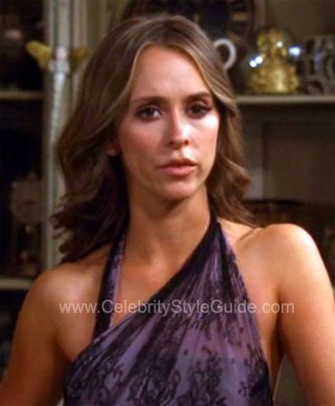 Ghost Whisperer Style and Fashion - Camilla and Marc Eliza Watermark Taffeta Dress on Celebrity Style Guide