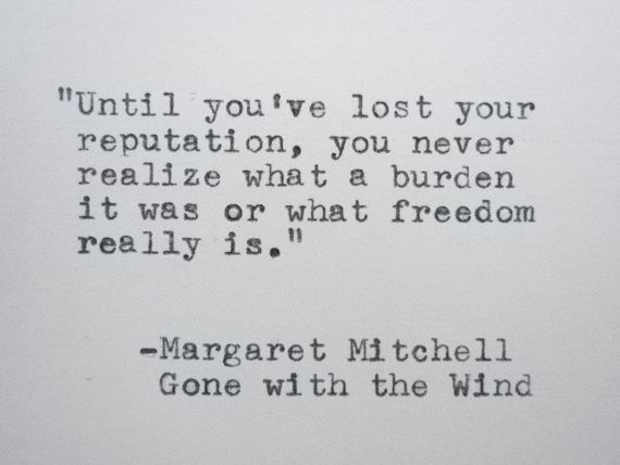 GONE WITH the WIND Quote Margaret Mitchell Quote Hand Typed on Typewriter Handtyped Quote