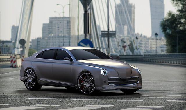 "new concept of classic ""warszawa"" car"