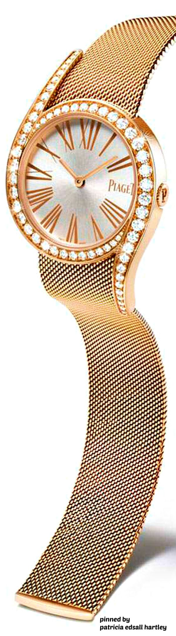 Piaget's Limelight Gala Milanese watch in pink gold with diamonds