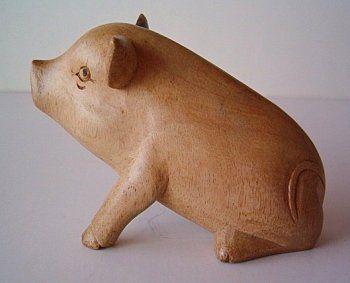 houten varken te koop uit Fräncis' VarkensCollectie voor 6,98 euro