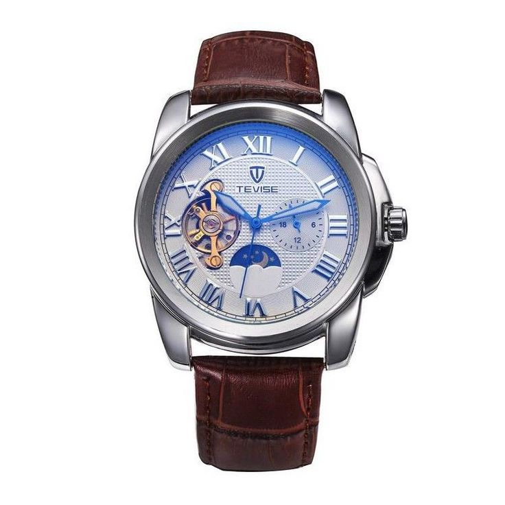 Tevise Men Tourbillon Automatic Mechanical Watch with Leather Strap | Jewelry & Watches, Watches, Parts & Accessories, Wristwatches | eBay!