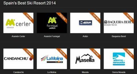 World Ski Awards: Premios a las mejores estaciones de esquí Lista estaciones de esquí españolas que optan al best ski resort 2014