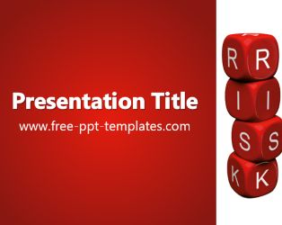 Risk PowerPoint Template is a red template with an appropriate background image which you can use to make an elegant and professional PPT presentation.