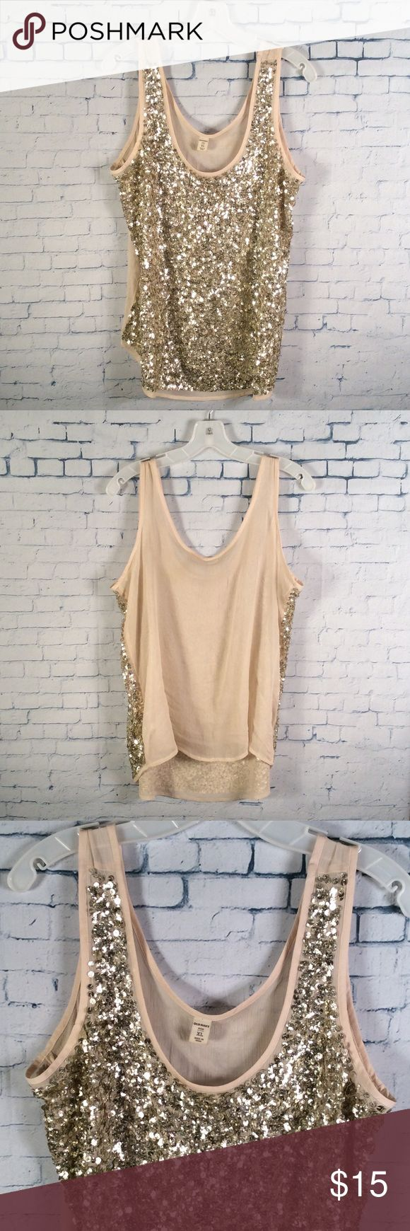Old Navy Sequin Tank Top Size XL Old Navy Sequin Tank Top. Size XL great condition. Perfect for the up coming holiday season. Old Navy Tops Tank Tops