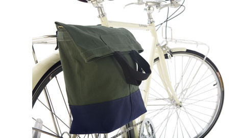 "Inspired by vintage boat bags this deep sac is perfect for town, beach or every day use.   What Le Velo loves about this bag: Made of waxed canvas and a coated base its extremely durable. With a simple hook design the sac attaches easily to your rack and includes a strap so you can throw it over your shoulder.  ""The most stylish pannier weve ever seen"" Guardian Magazine, Sept. 2012 $100.00"
