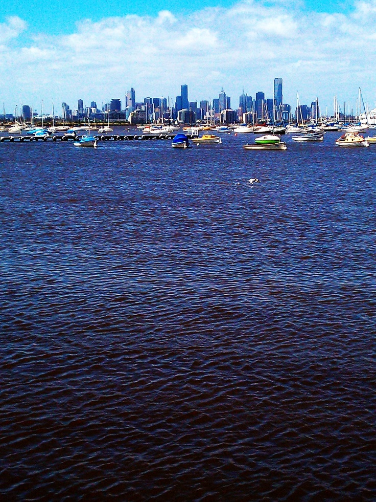 melbourne cbd as viewed from williamstown