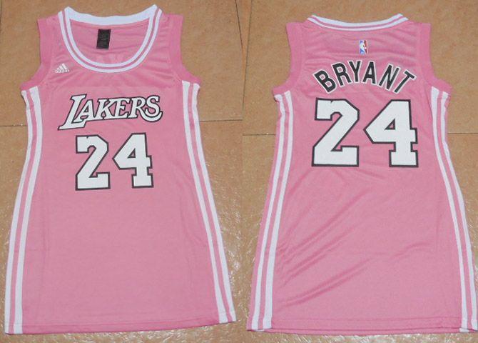 Cheap Women NBA Los Angeles Lakers 24 Kobe Bryant Pink Dress ...