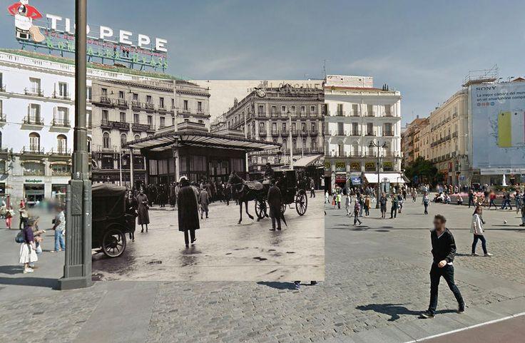 74 best madrid ayer y hoy images on pinterest madrid for Puerta del sol hoy