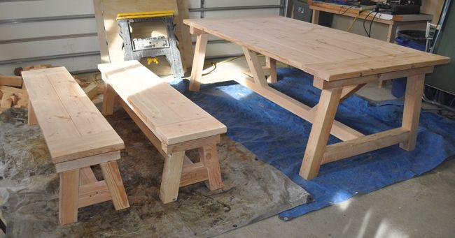 How To Build A 4 215 4 Farmhouse Table Build A Farmhouse
