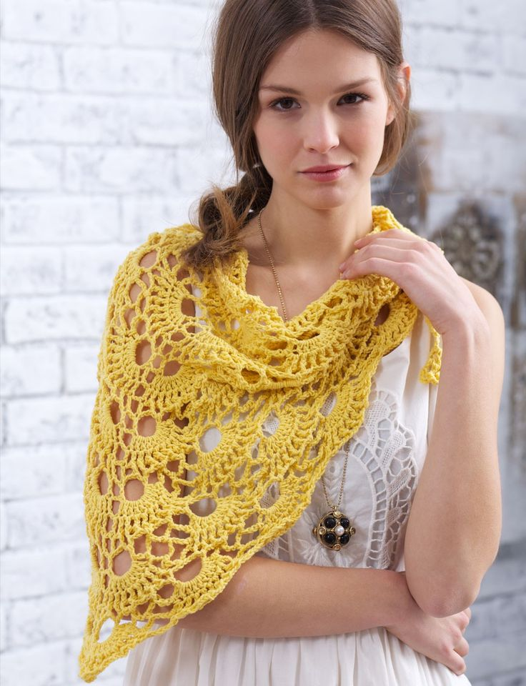 Yarnspirations.com - Bernat Yes Yes Shawl - Patterns  | Yarnspirations...repeat rows 10-13 to make longer