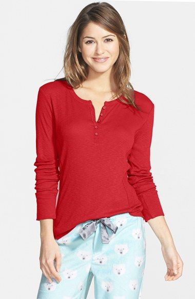 Free shipping and returns on PJ Salvage Long Sleeve Henley at Nordstrom.com. A ribbed long-sleeve henley offers ultimate comfort in a slubbed jersey knit.
