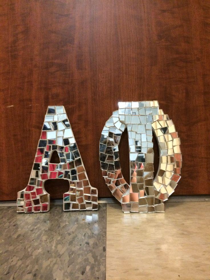 Alpha Phi UConn Big & Little Mirror Letters! #CraftyPhis #AlphaPhiUConn