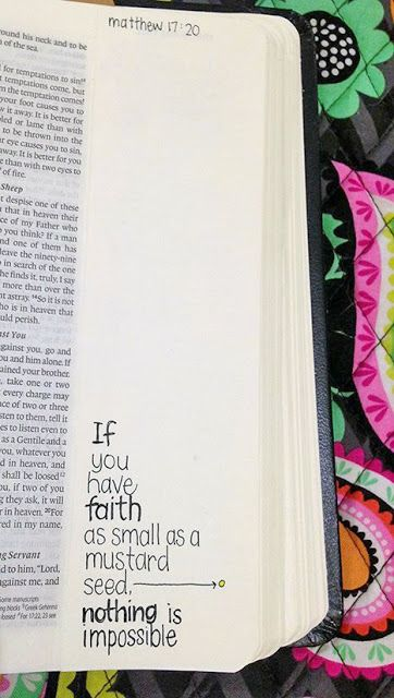 Silly Bee's Chickadees, faith as small as a mustard seed (actual size), Matthew 17:20 #journalingBible #illustratedfaith #faithart