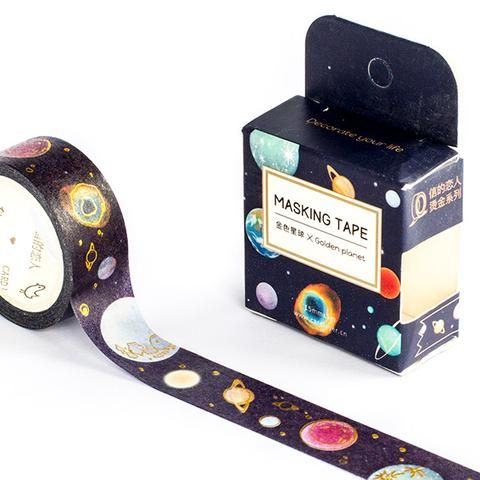 Space Gold Foiled Masking Tape