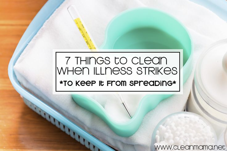 7 Things to Clean When Illness Strikes via Clean Mama on ABFOL