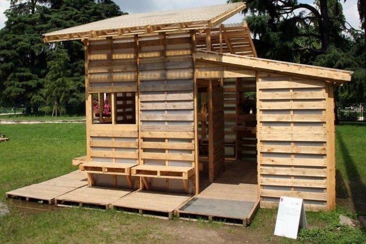 Los pallets pueden reutilizarse y reciclarse de múltiples maneras para construir todo lo que te imaginas, ¡incluso tu propia casa!