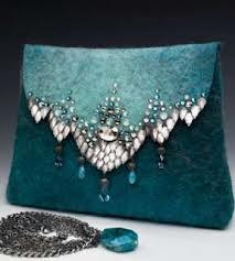 Felted handbag by Anat Gelbard