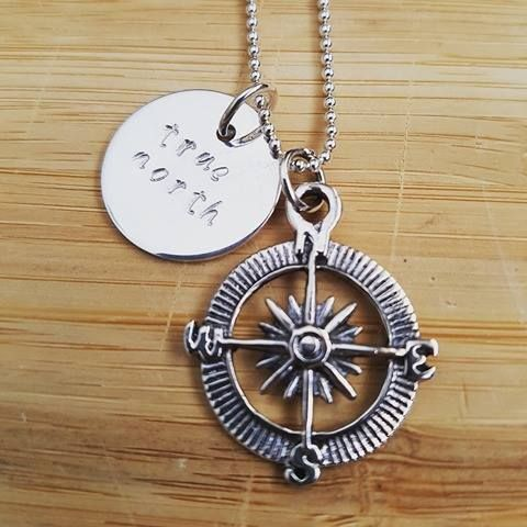 Follow your true north compass.  This is a sterling silver beauty set..love love love