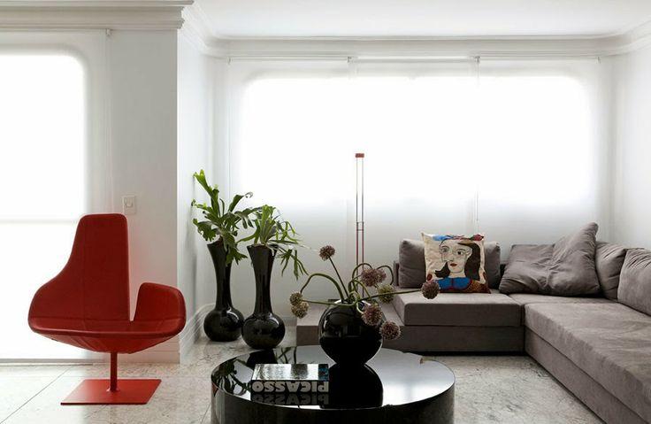 Aposte em diferentes tamanhos de vasos na hora de decorar, você vai adorar o resultado! ;)