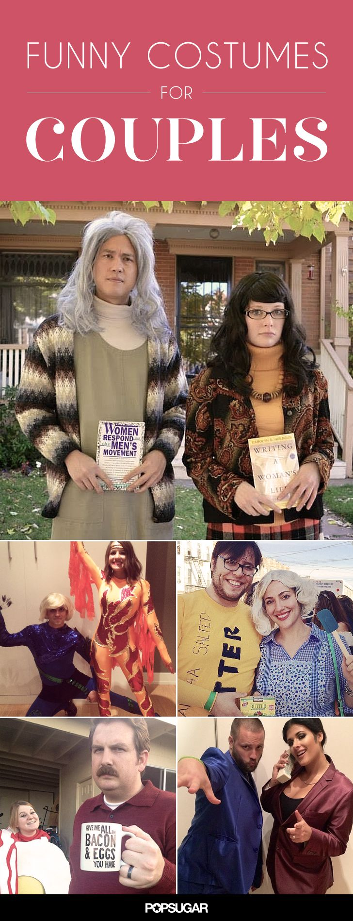 Are you and your boyfriend the couple that is always making your other friends laugh? If you are, it should be easy to keep the chuckles going with these funny costumes meant for the pair with a good sense of humor. Whether you're embodying Saturday Night Live characters or Will Ferrell movies, these costume ideas will be winning.