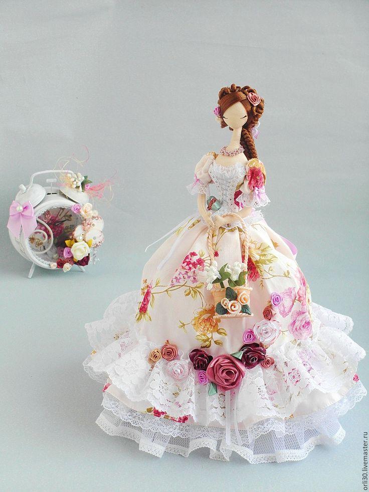 Купить Текстильная кукла.Тряпиенса. Виктория - бледно-розовый, текстильная кукла, тряпиенсы, корейские тряпиенсы