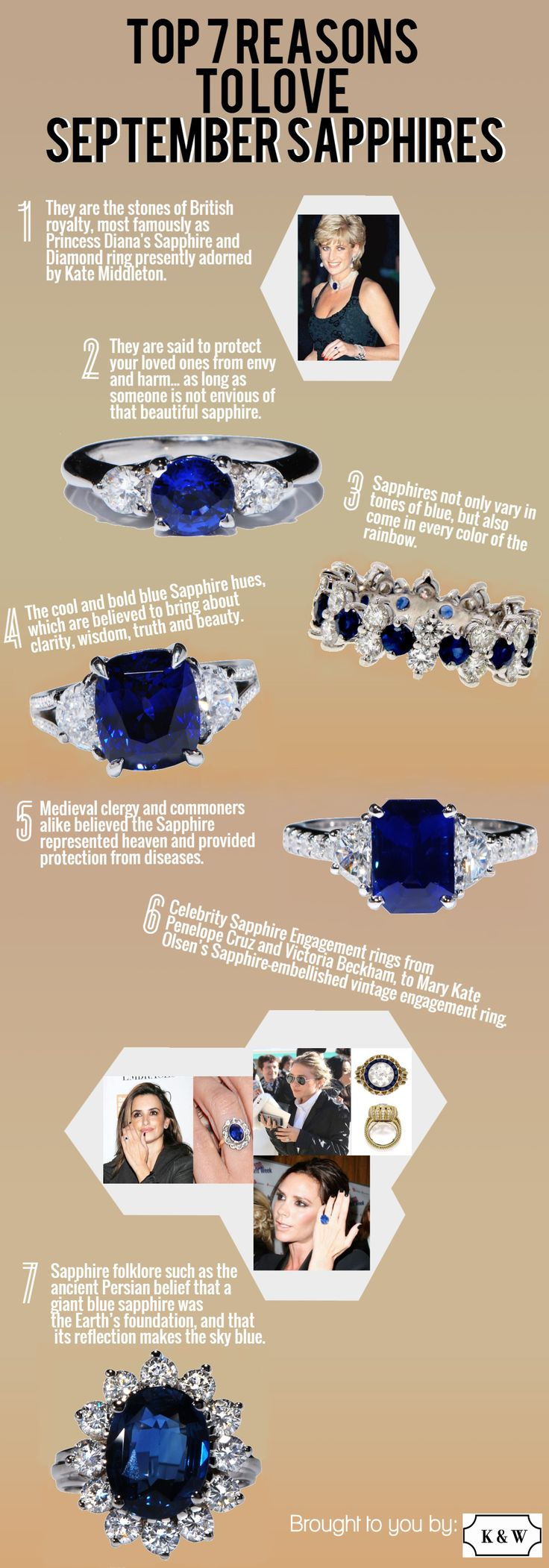 It's officially Fall! Sapphires kick off the season as the birthstone of September, so here are 7 reasons why we love Sapphires!