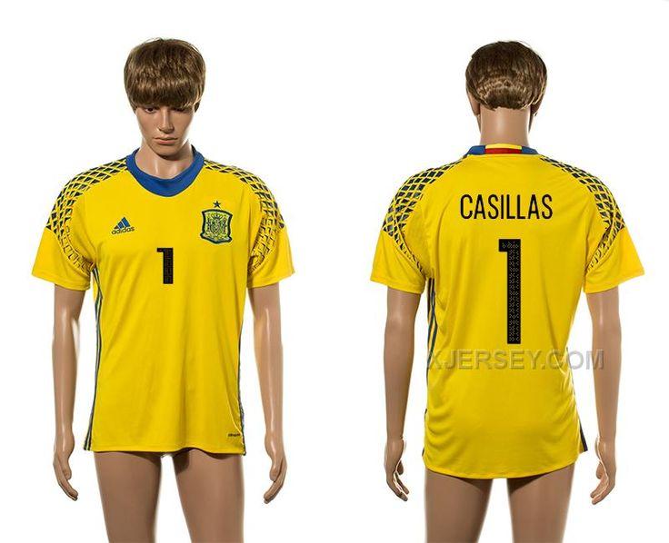 goalkeeper long sleeves soccer country jersey httpxjerseyspain 1 casillas . soccer jerseysspaingoalkeepereurolatest 2016 european cup spain